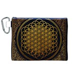 Bring Me The Horizon Cover Album Gold Canvas Cosmetic Bag (XL) Front