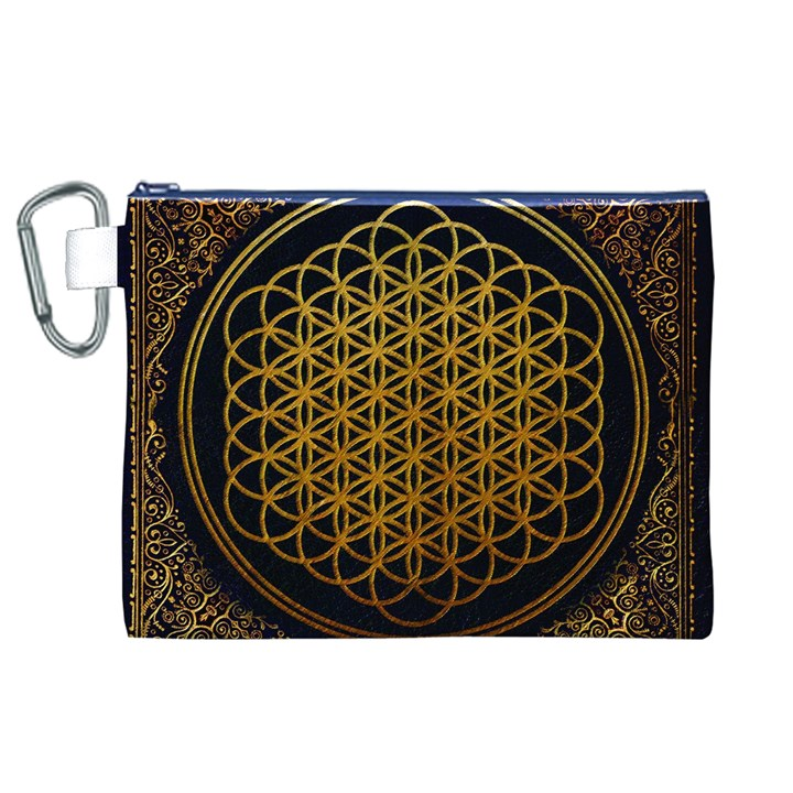 Bring Me The Horizon Cover Album Gold Canvas Cosmetic Bag (XL)