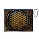 Bring Me The Horizon Cover Album Gold Canvas Cosmetic Bag (XL) Back