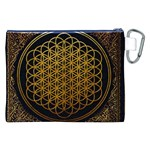 Bring Me The Horizon Cover Album Gold Canvas Cosmetic Bag (XXL) Back