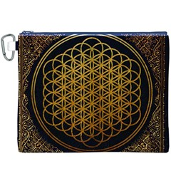 Bring Me The Horizon Cover Album Gold Canvas Cosmetic Bag (XXXL)