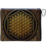 Bring Me The Horizon Cover Album Gold Canvas Cosmetic Bag (XXXL) Back