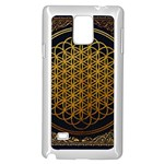 Bring Me The Horizon Cover Album Gold Samsung Galaxy Note 4 Case (White) Front