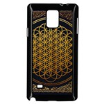 Bring Me The Horizon Cover Album Gold Samsung Galaxy Note 4 Case (Black) Front