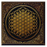 Bring Me The Horizon Cover Album Gold Large Satin Scarf (Square) Front