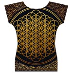 Bring Me The Horizon Cover Album Gold Women s V-Neck Cap Sleeve Top Back
