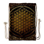 Bring Me The Horizon Cover Album Gold Drawstring Bag (Large) Front