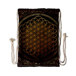 Bring Me The Horizon Cover Album Gold Drawstring Bag (Small) Back
