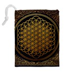 Bring Me The Horizon Cover Album Gold Drawstring Pouches (Extra Large) Back