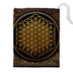 Bring Me The Horizon Cover Album Gold Drawstring Pouches (XXL)