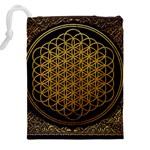Bring Me The Horizon Cover Album Gold Drawstring Pouches (XXL) Back