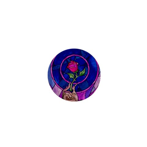 Enchanted Rose Stained Glass 1  Mini Buttons