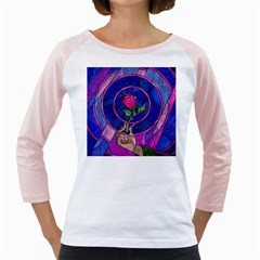 Enchanted Rose Stained Glass Girly Raglans