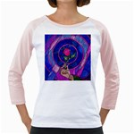 Enchanted Rose Stained Glass Girly Raglans Front