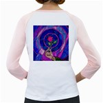 Enchanted Rose Stained Glass Girly Raglans Back