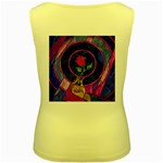 Enchanted Rose Stained Glass Women s Yellow Tank Top Back