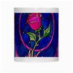 Enchanted Rose Stained Glass White Mugs Center