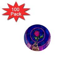 Enchanted Rose Stained Glass 1  Mini Buttons (100 Pack)