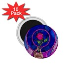 Enchanted Rose Stained Glass 1.75  Magnets (10 pack)  Front