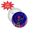 Enchanted Rose Stained Glass 1.75  Buttons (100 pack)  Front