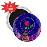 Enchanted Rose Stained Glass 2.25  Magnets (100 pack)  Front