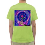 Enchanted Rose Stained Glass Green T-Shirt Back