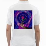Enchanted Rose Stained Glass Golf Shirts Back