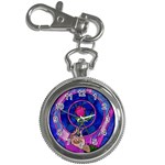 Enchanted Rose Stained Glass Key Chain Watches Front
