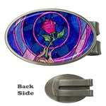 Enchanted Rose Stained Glass Money Clips (Oval)  Front