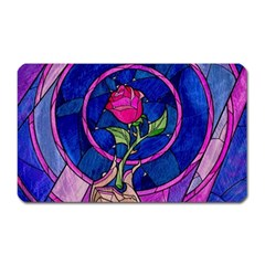 Enchanted Rose Stained Glass Magnet (Rectangular)