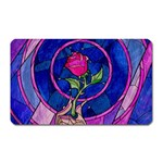 Enchanted Rose Stained Glass Magnet (Rectangular) Front