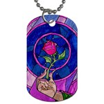 Enchanted Rose Stained Glass Dog Tag (One Side) Front