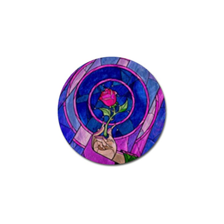 Enchanted Rose Stained Glass Golf Ball Marker