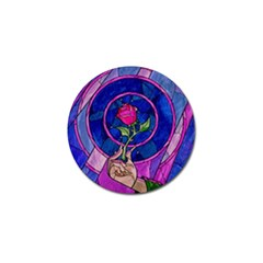 Enchanted Rose Stained Glass Golf Ball Marker (4 pack)