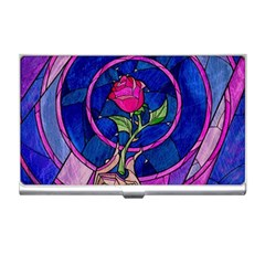 Enchanted Rose Stained Glass Business Card Holders