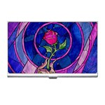 Enchanted Rose Stained Glass Business Card Holders Front