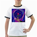 Enchanted Rose Stained Glass Ringer T-Shirts Front