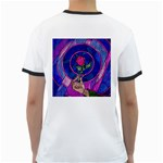 Enchanted Rose Stained Glass Ringer T-Shirts Back