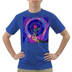 Enchanted Rose Stained Glass Dark T-Shirt Front