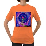 Enchanted Rose Stained Glass Women s Dark T-Shirt Front