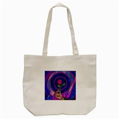 Enchanted Rose Stained Glass Tote Bag (cream)