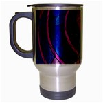 Enchanted Rose Stained Glass Travel Mug (Silver Gray) Left