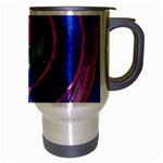 Enchanted Rose Stained Glass Travel Mug (Silver Gray) Right