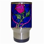 Enchanted Rose Stained Glass Travel Mugs (White) Center
