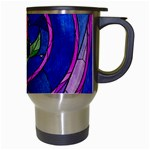 Enchanted Rose Stained Glass Travel Mugs (White) Right