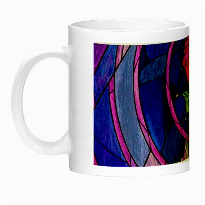 Enchanted Rose Stained Glass Night Luminous Mugs