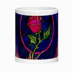 Enchanted Rose Stained Glass Night Luminous Mugs Center