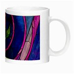 Enchanted Rose Stained Glass Night Luminous Mugs Right