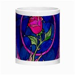 Enchanted Rose Stained Glass Morph Mugs Center