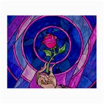 Enchanted Rose Stained Glass Small Glasses Cloth Front